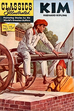 cover of classics illustrated edition of kim