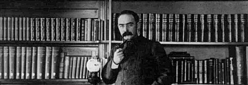 Kipling in the study of his house Naulaka in Vermont
