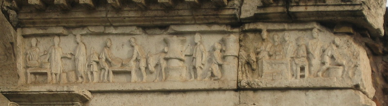 The frieze of the baker's tomb